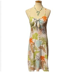 Tommy Bahama Small Hawaiian Print Dress Adj Straps